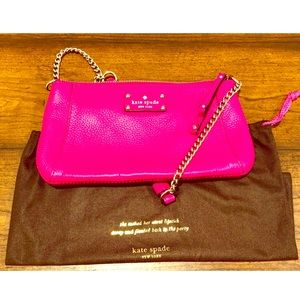 Pink Kate Spade Leather Purse with Chain